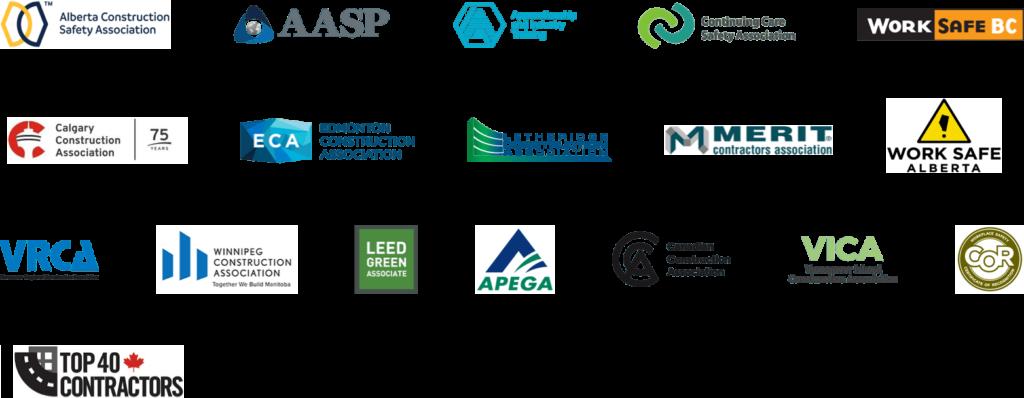 Logos of associations and awards